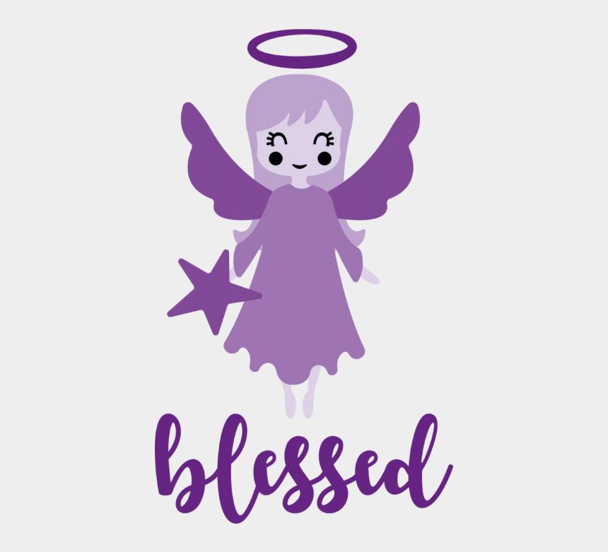 christmas angel clip art, Cartoons - Word Blessed