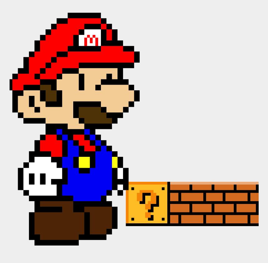 brick wall clip art, Cartoons - Paper Mario Pixel Art