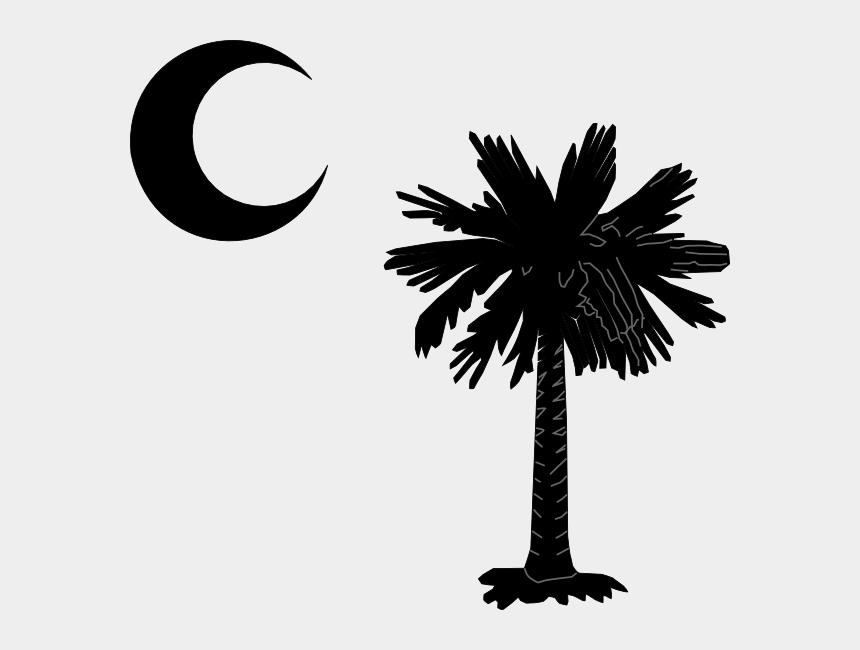 moon clip art black and white, Cartoons - South Carolina Palm Tree Logo