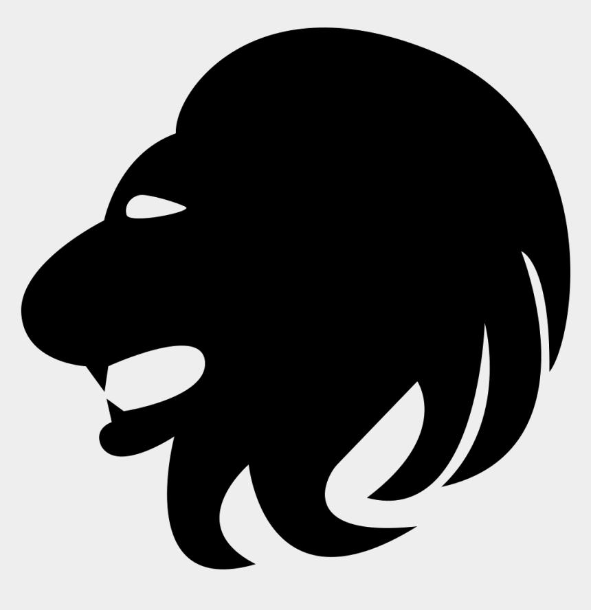 lion head clip art, Cartoons - Leo Lion Head Side - Lion Head Icon Png