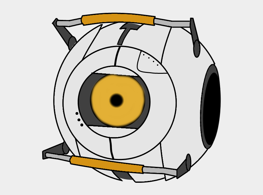 portal clipart, Cartoons - Curiosity Core Portal 2 By Thesmithsart - Angry Core Portal 2