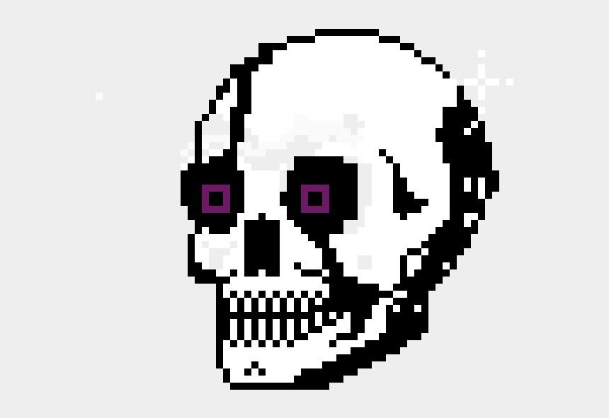 cute skull clip art, Cartoons - Cute Skull Pixel Art