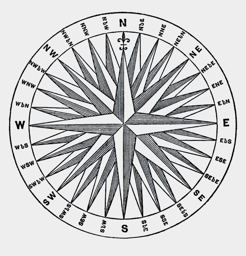 simple compass clip art, Cartoons - Compass, Olde World Maps - Compass Rose
