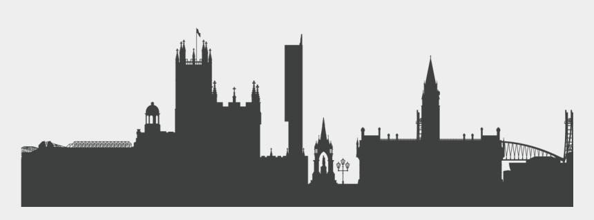 seattle skyline silhouette clip art, Cartoons - Manchester Skyline Silhouette Png