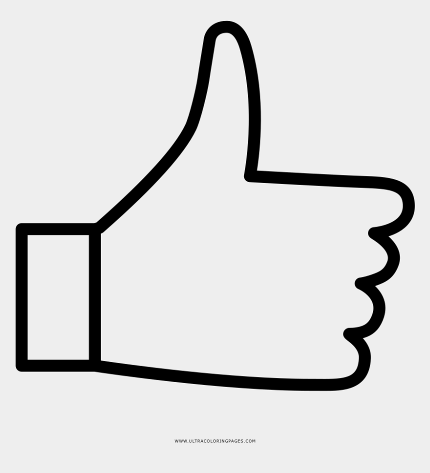 thumbs up clip art black and white, Cartoons - Thumbs Up Coloring Page - Thumbs Up Coloring Pages