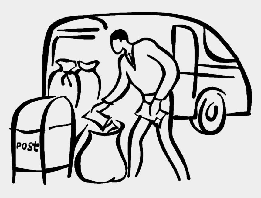 mail carrier clip art, Cartoons - Vector Illustration Of Postal Service Worker Delivers