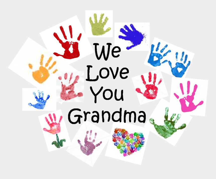 i love you clipart, Cartoons - We Love Grandma Png