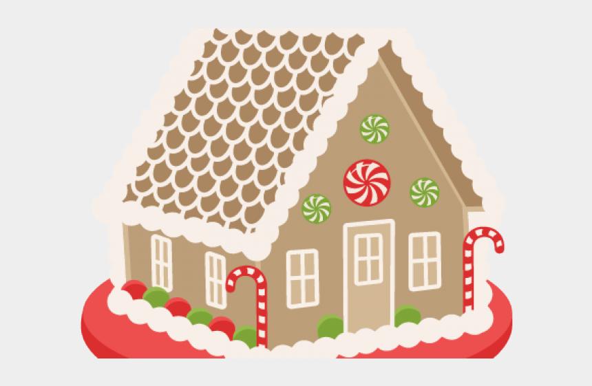 gingerbread man clipart, Cartoons - Cute Gingerbread House Clip Art