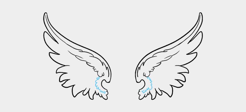 wings clipart, Cartoons - Angel Wings Cartoon Images Cartoonview Co How Ⓒ - Angel Wing Simple Drawing