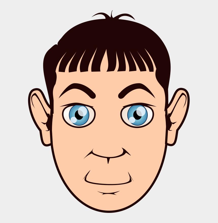 head clipart, Cartoons - Head Boy People Guseinstein - Blue Eyed Clip Art