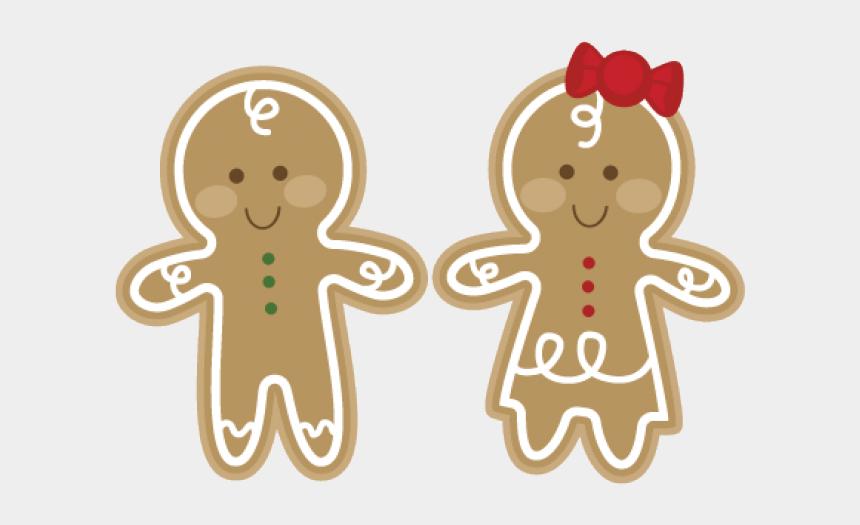 gingerbread man clipart, Cartoons - Gingerbread Clipart Couple - Gingerbread Couple Clipart
