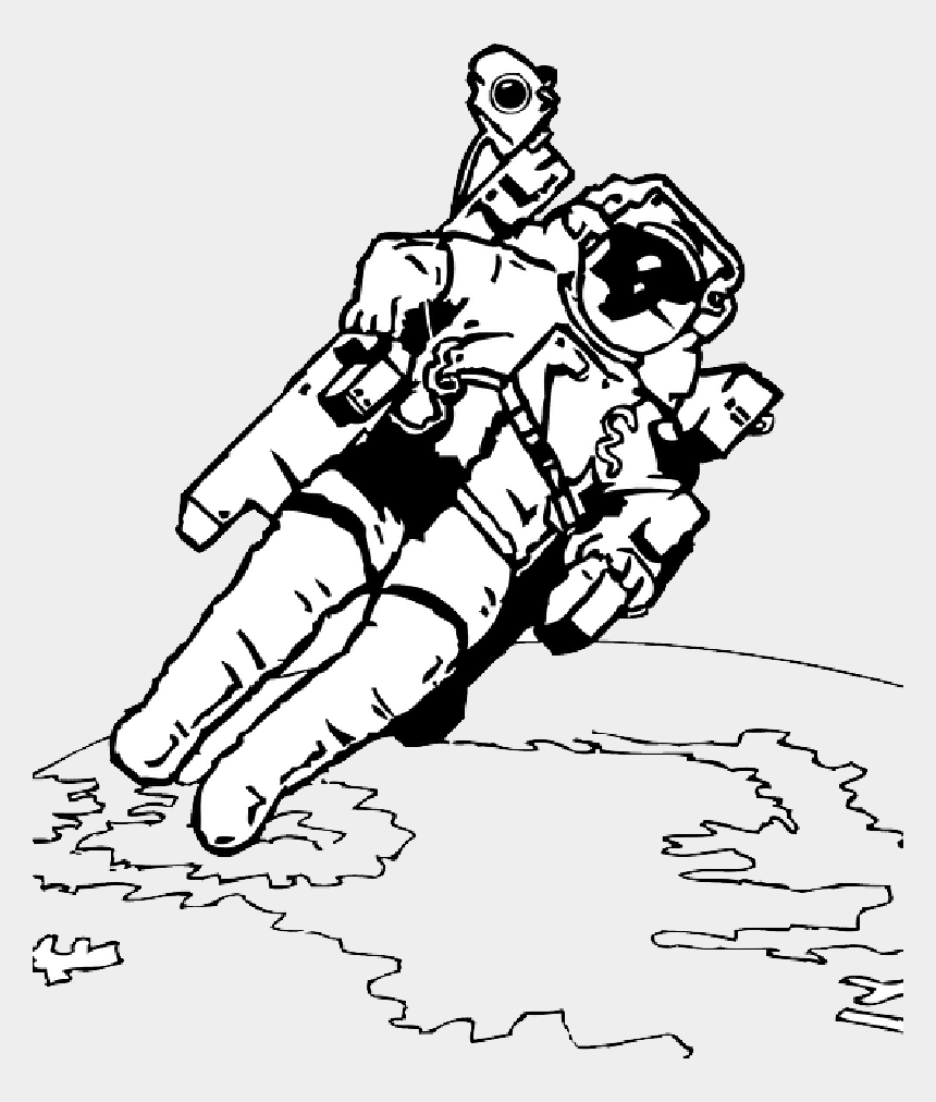 astronaut clipart, Cartoons - Image Result For Astronaut Clipart - Astronaut In Space Coloring Pages