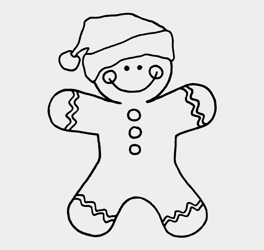 gingerbread man clipart, Cartoons - Have A Great Day - Christmas Gingerbread Man Coloring Pages
