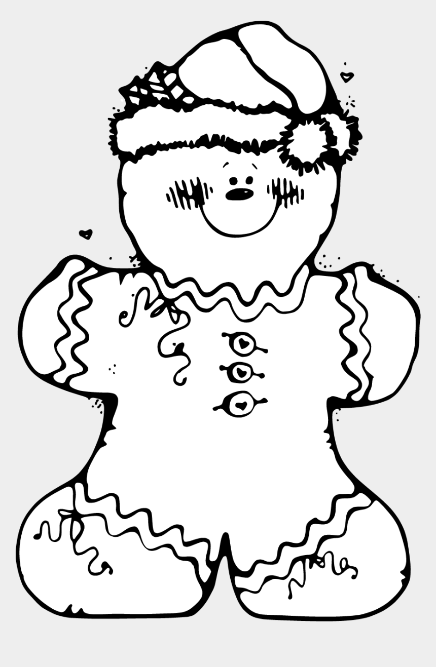 gingerbread man clipart, Cartoons - Gingerbread Man Shrek Quotes - Gingerbread Christmas Coloring Pages
