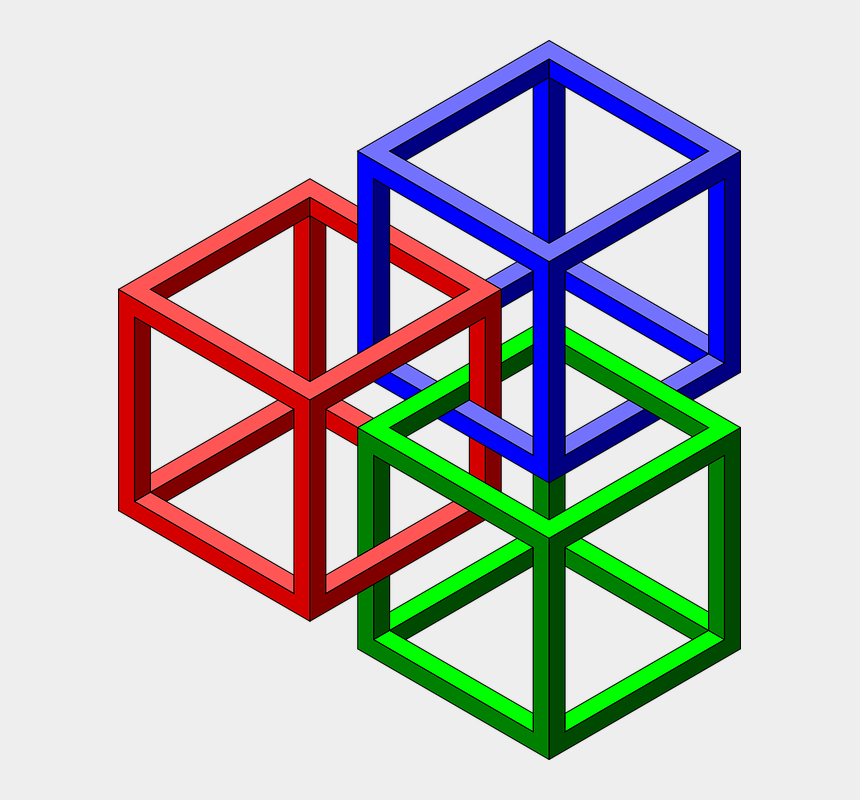 shapes clipart, Cartoons - Geometric Optical Illusions 3d