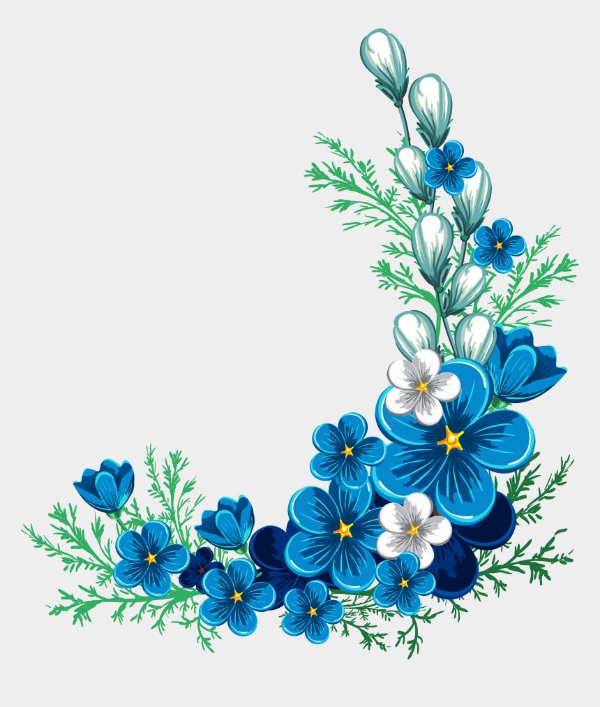 flower border clipart, Cartoons - Blue Rose Border Clipart Blue Flower Border - Blue Flower Border Png