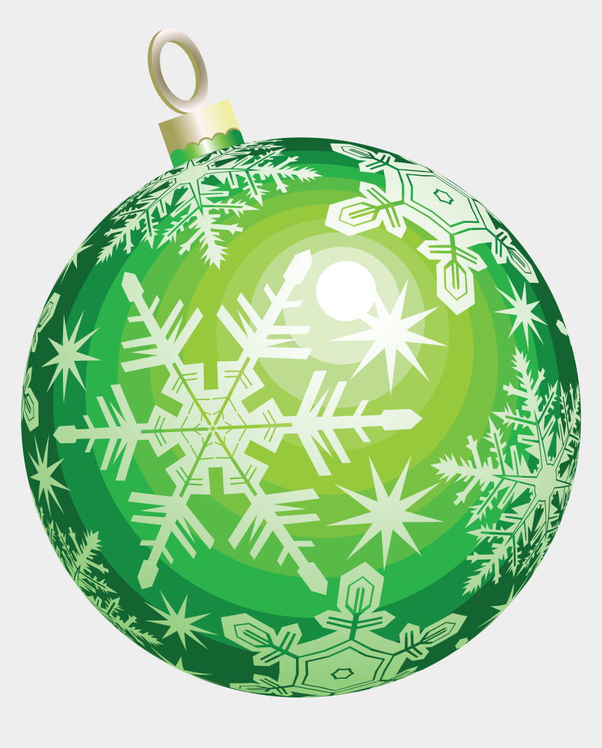 christmas ornament clipart, Cartoons - Christmas Ornament Clipart Object - Green Christmas Ornament Png