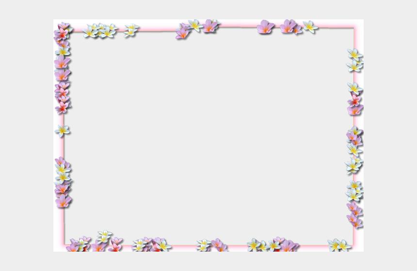 flower border clipart, Cartoons - Easter Flower Clipart Border - Rectangle Flower Border Png