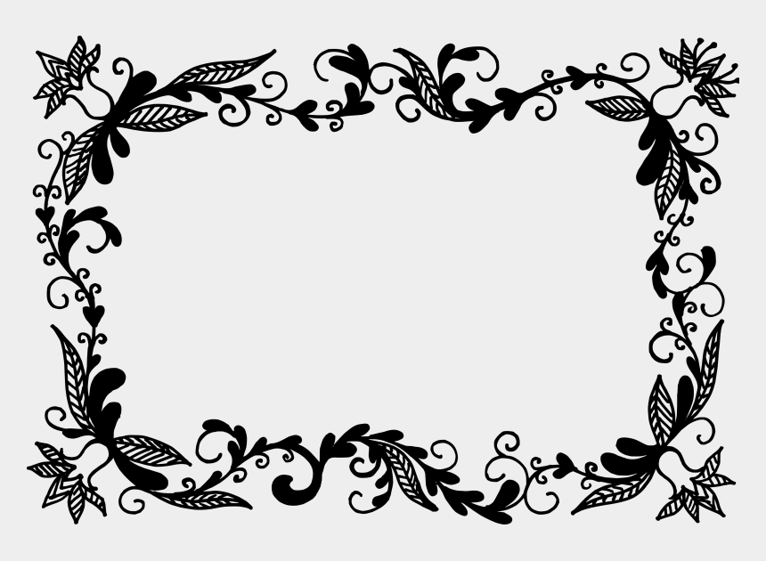 border design clipart, Cartoons - Vector Frame Clipart Floral - Floral Frame Png Vector