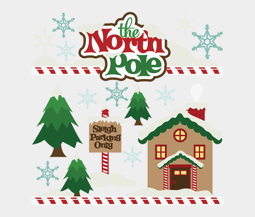 free christmas clipart borders, Cartoons - The North Pole Svg Cutting File Christmas Svg Cut Files - North Pole Signs Clip Art