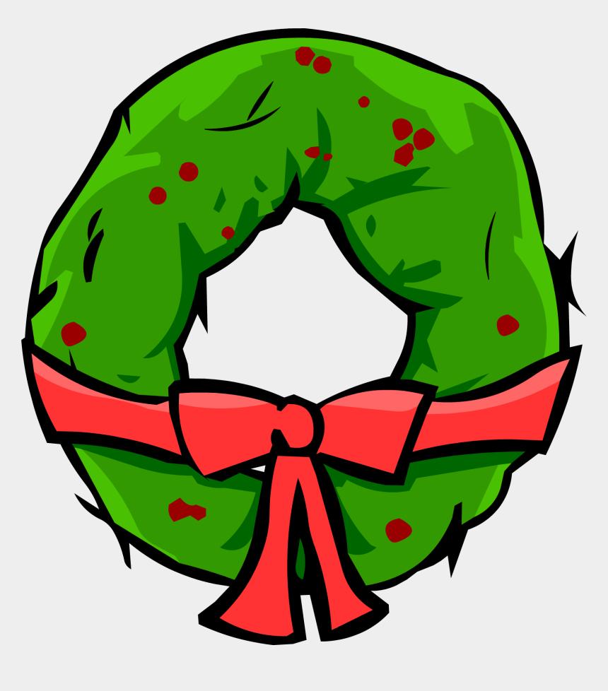 christmas wreath clipart, Cartoons - Christmas Wreath - Club Penguin Christmas Png