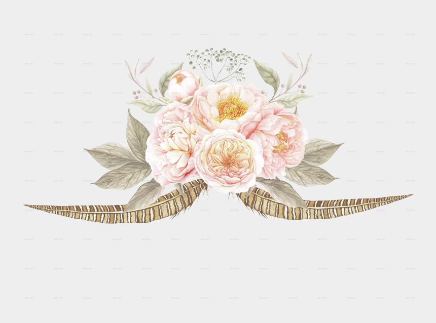 flower border clipart, Cartoons - 6 Vintage Floral Bouquets By Larabriffa - Cute Vintage Flower Png