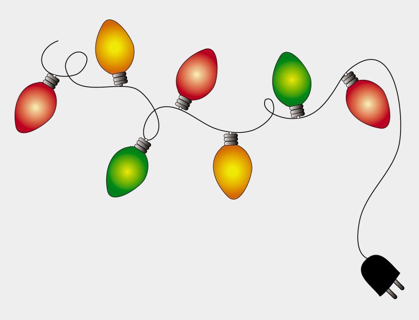 christmas lights clipart, Cartoons - Christmas Lights Clipart Transparent Background