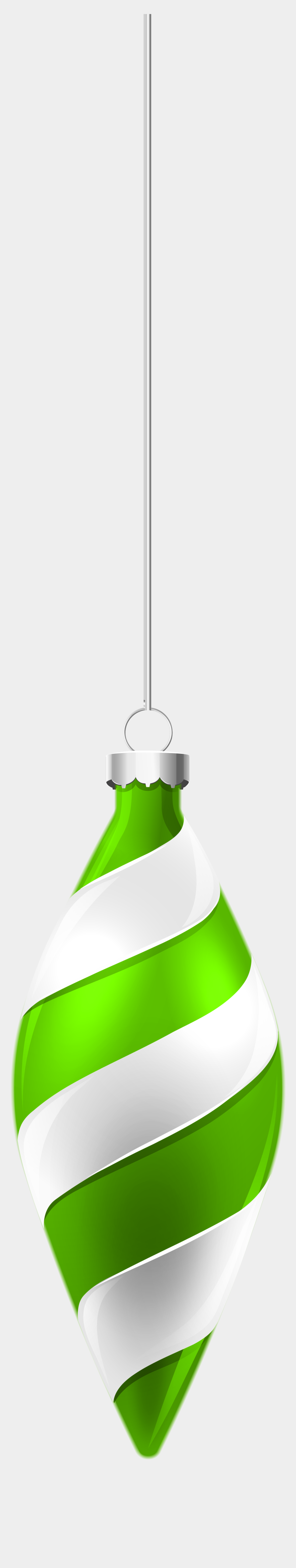 christmas decorations clipart, Cartoons - White And Green Christmas Ornament Png Clipart Image - Green Christmas Ornament Png