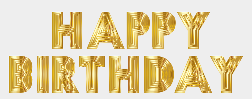clipart word 2013, Cartoons - Happy Birthday Png - Happy Birthday Gold Png