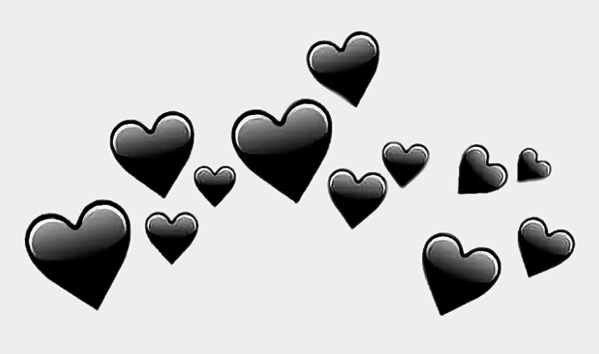 summer black and white clipart, Cartoons - #tumblr #remix #hearts #summer #black #edit #photoedit - Transparent Black Heart Emoji