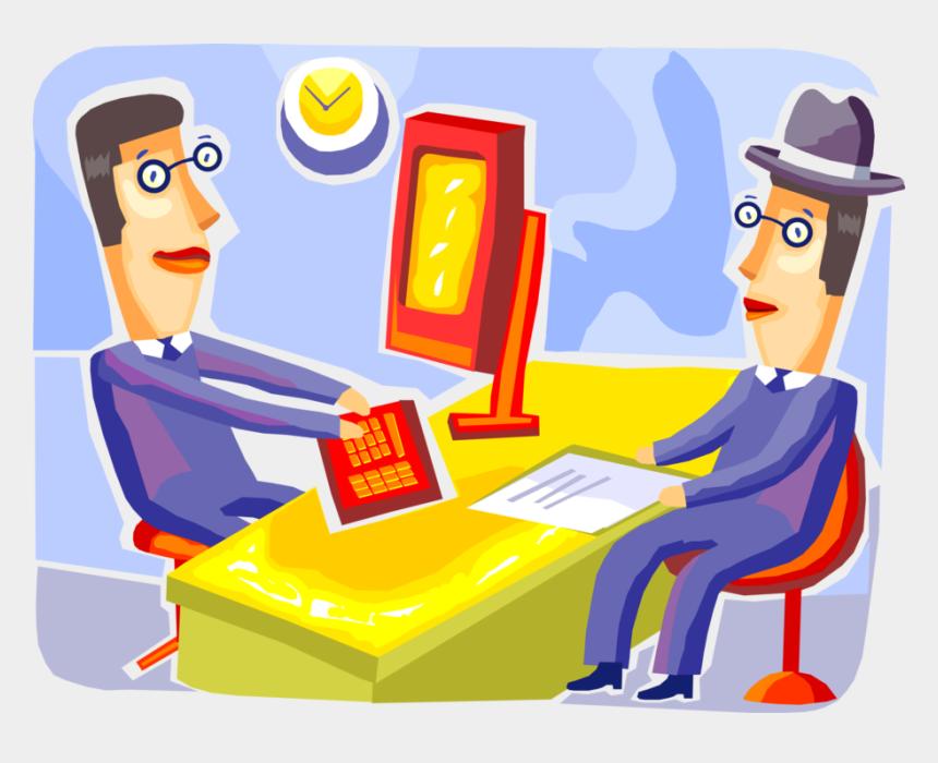 human resource clip art, Cartoons - Vector Illustration Of Corporate Human Resources Manager - Cartoon