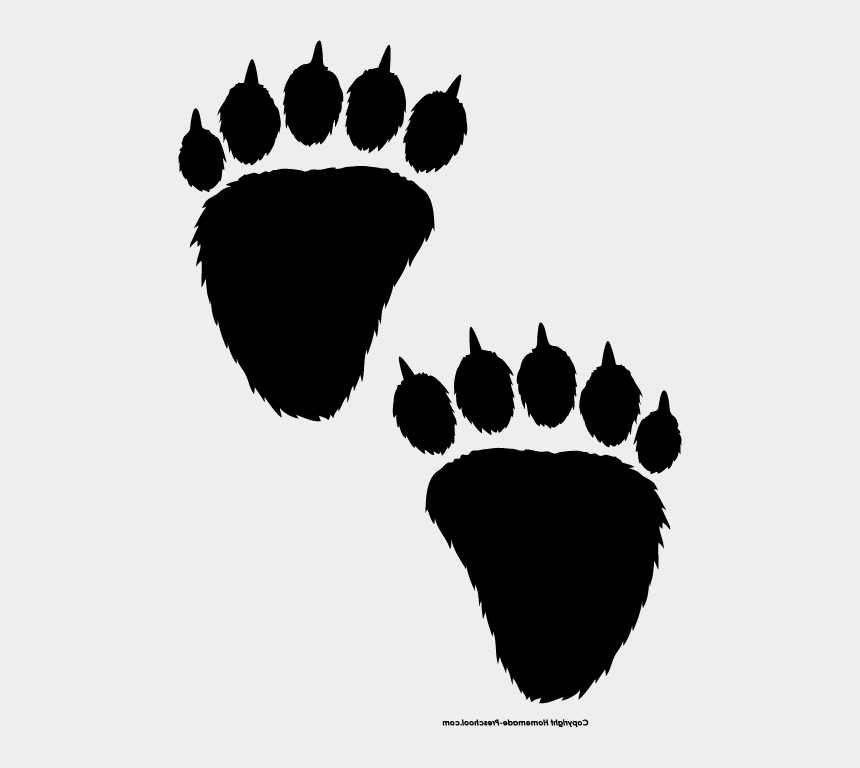 bear paw clip art, Cartoons - Bear Paw Print Clip Art - Bear Prints Clipart