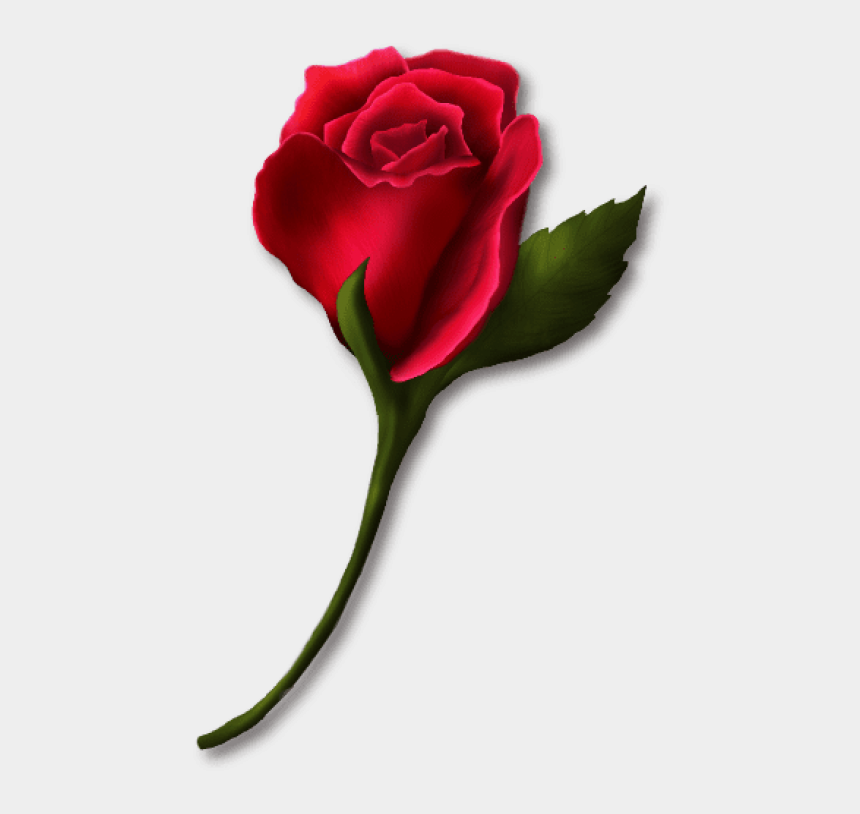red roses clip art, Cartoons - Download Red Rose Bud Painted Png Images Background - Red Rose Bud Clipart
