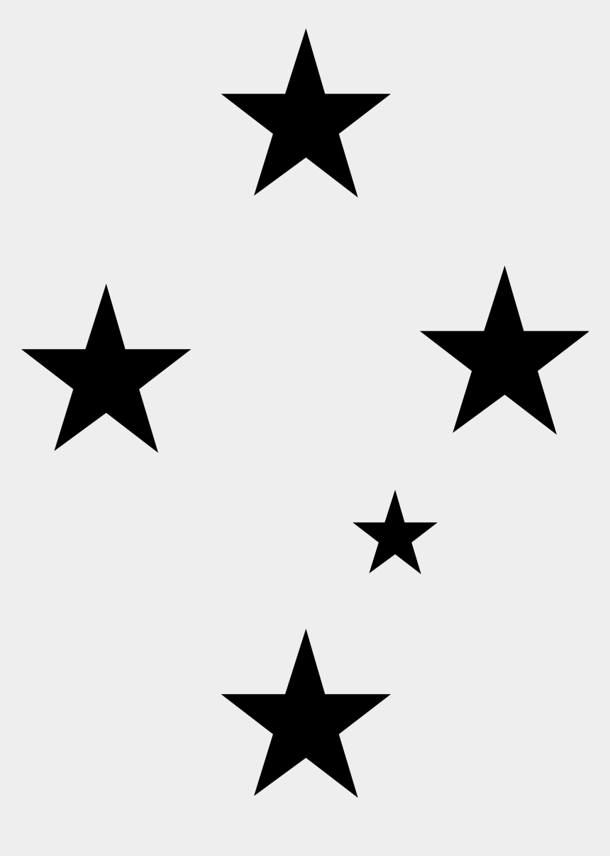 constellation clip art, Cartoons - Southern Cross Star Pattern Clipart , Png Download - Southern Cross Stars Tattoo