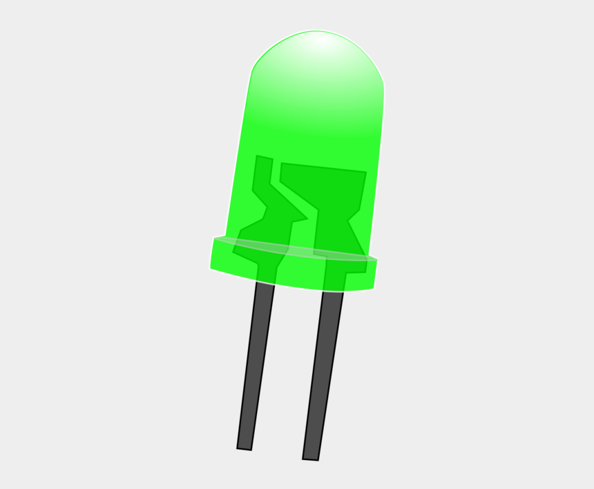 green light clip art, Cartoons - Diode - Green Led Light Png