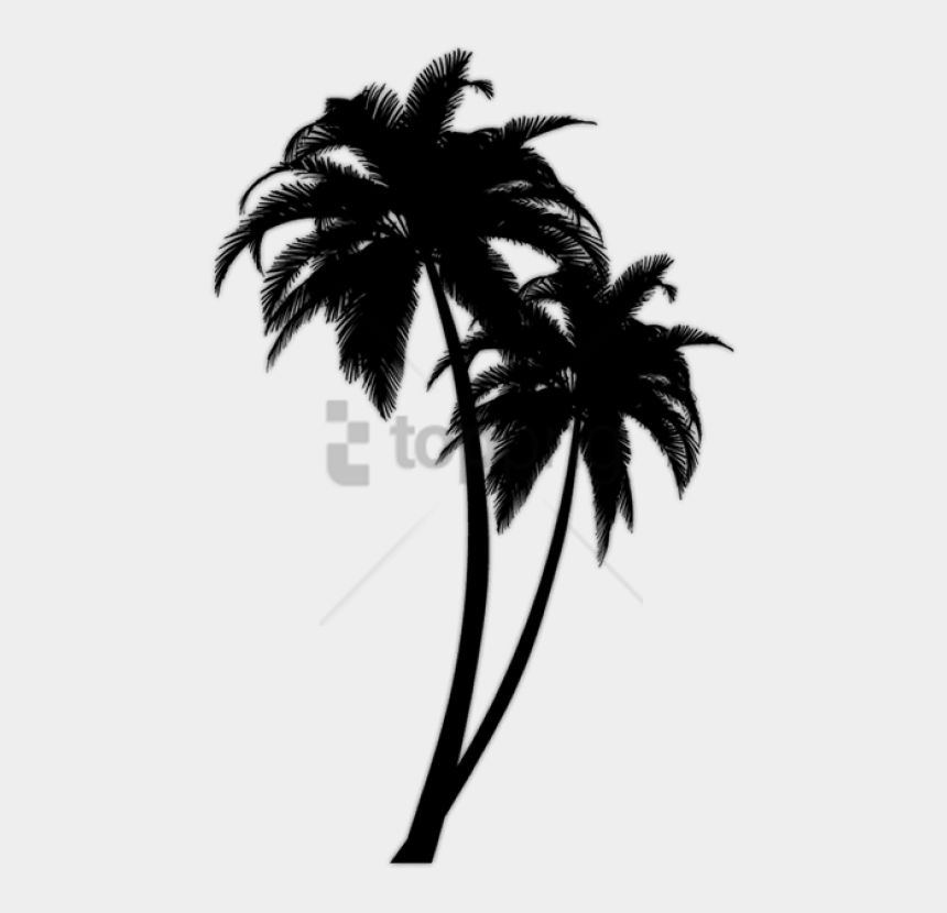 palm tree clip art black and white, Cartoons - Free Png Black Palm Tree Png Image With Transparent - Black Palm Tree Png