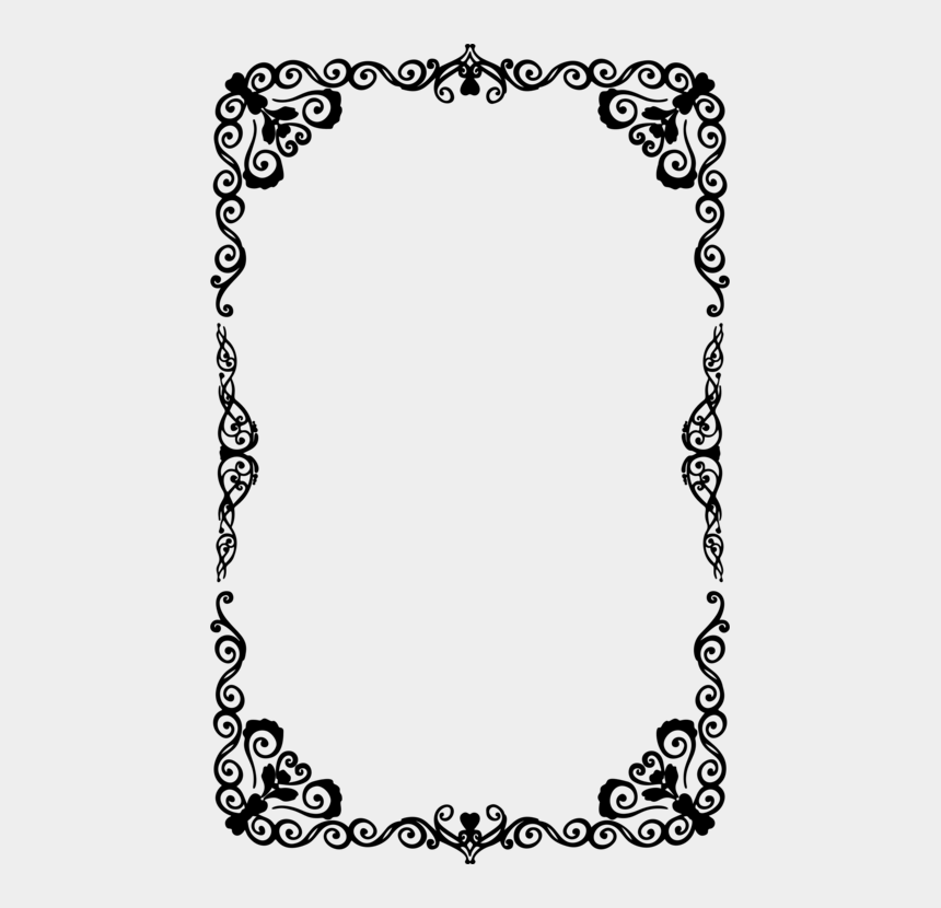 fancy line clip art, Cartoons - Picture Frame,line Art,area - Halloween Border Clipart Black And White