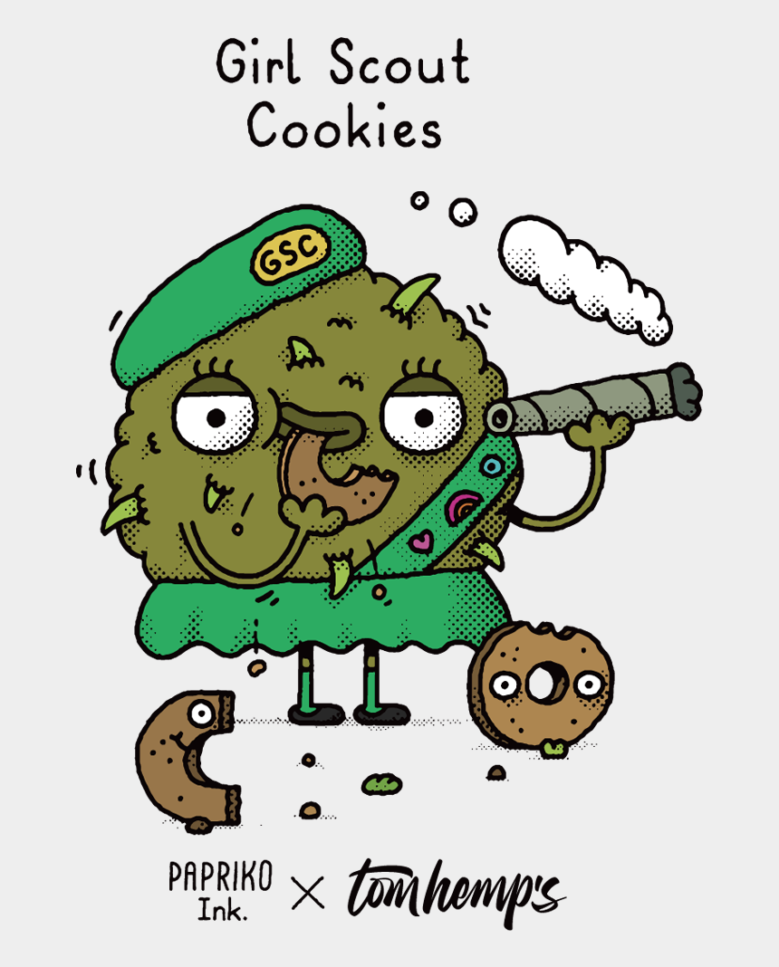 girl scout cookies clip art, Cartoons - Weed Strain Of The Day Cartoon