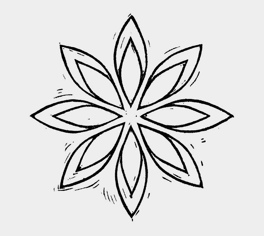 geometry clip art, Cartoons - Open Space Designs Geometric Flower - Geometrical Flower Designs