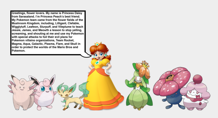pokemon clip arts, Cartoons - Daisy Clipart Field Daisy - Princess Daisy Pokemon Team