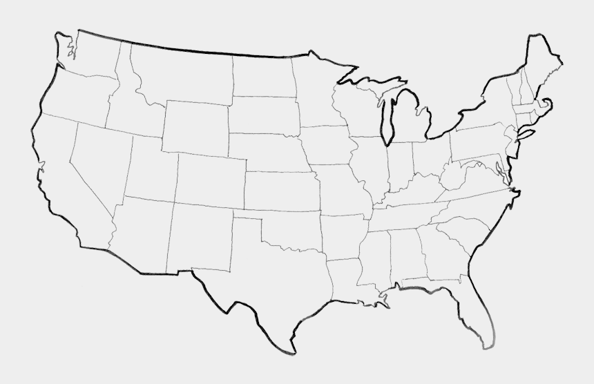 us maps clip art, Cartoons - Usa Map Png Picture - Usa Map Outline