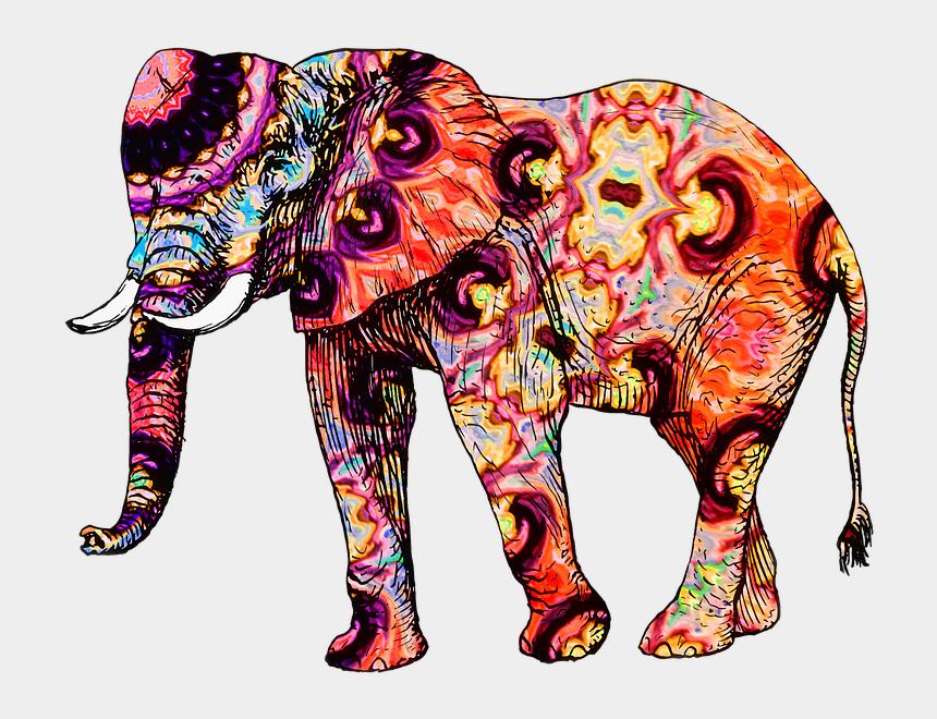 zoo animals clip art, Cartoons - Animal, Elephant, Zoo, Zoo Animals, Wild, Nature - Colorful Elephant Clipart