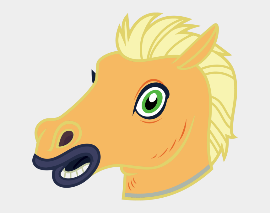 horse head clip art color, Cartoons - Horse Mask Vector