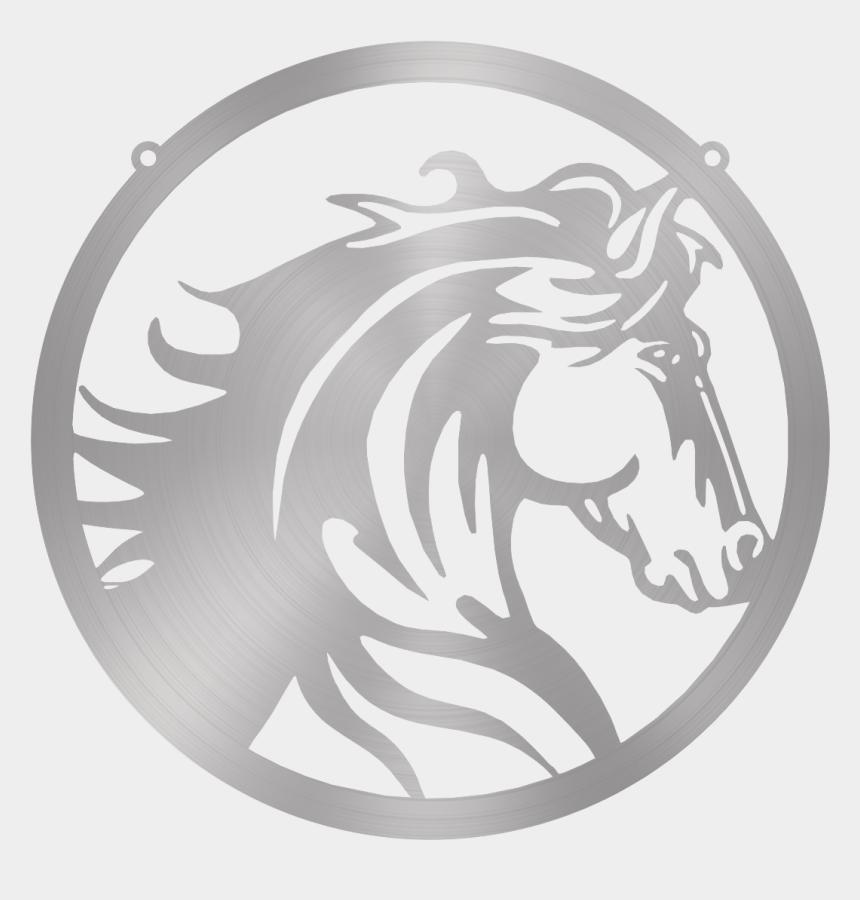 horse head clip art color, Cartoons - Steel Roots Decor 18 / Polished Horse Head - Horse Head Circle Png