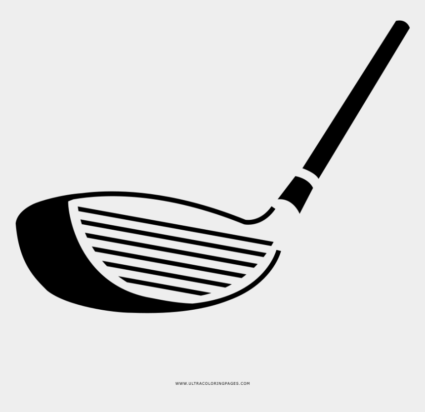 golf club clip art black and white, Cartoons - Golf Club Coloring Page - Wedge