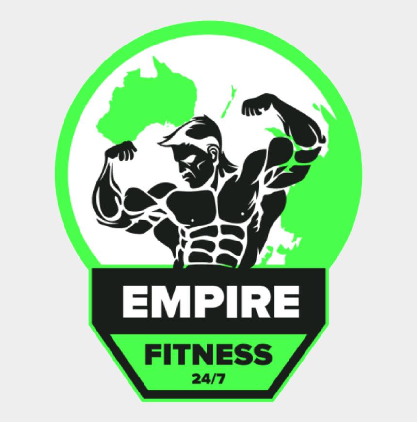 bodybuilder clip art, Cartoons - Bodybuilding Fitness Gym Logo