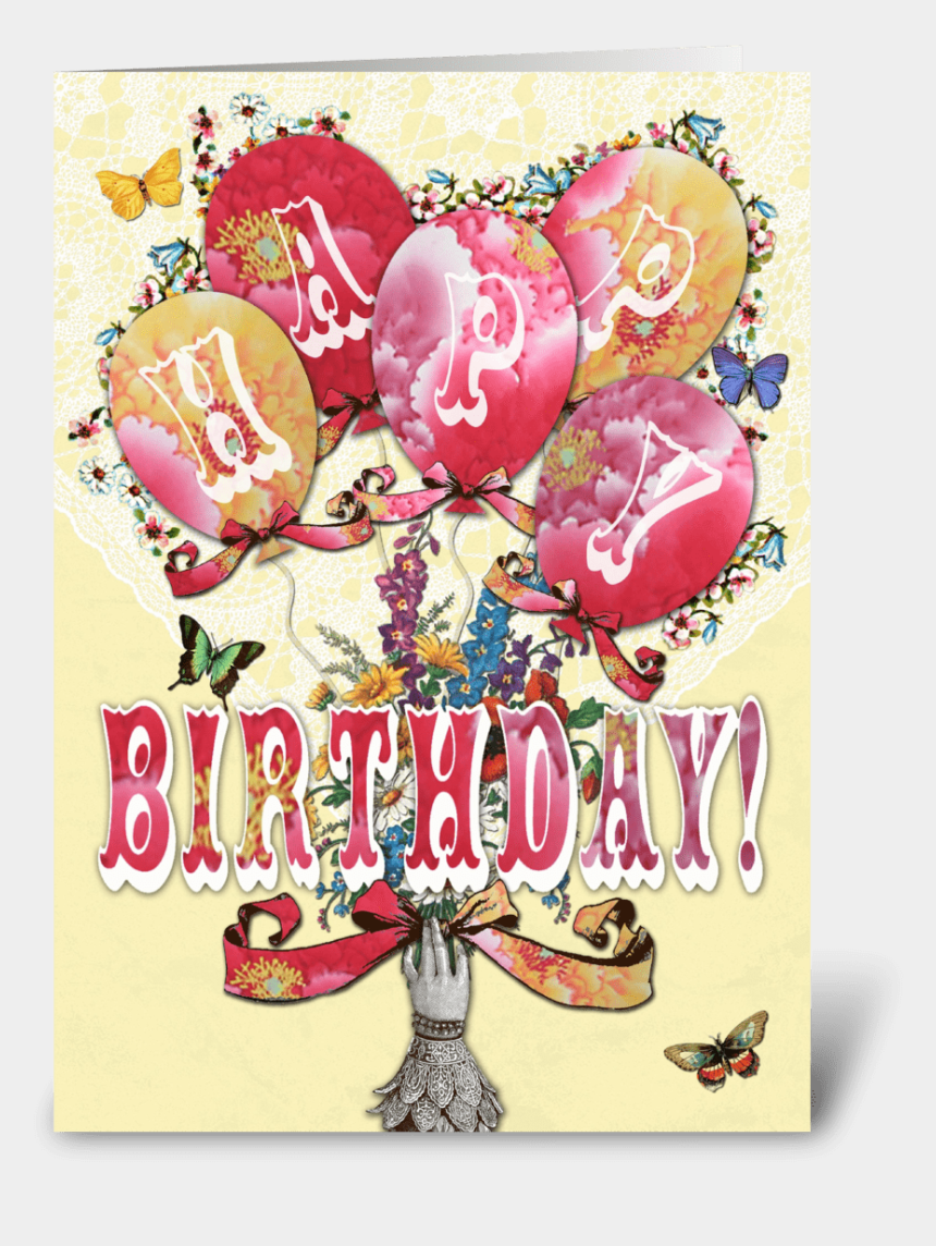 happy birthday clip art for facebook, Cartoons - Candy Card Balloons Happy Birthday Greeting Card - Balloon