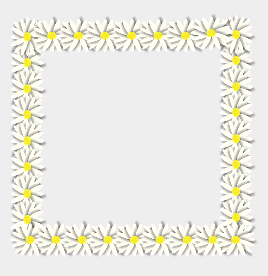 daisy flower clip art, Cartoons - Spring Daisy Flower Free Picture - Frame Margaridas Png