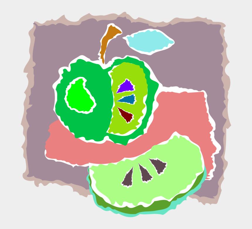 green apples clip art, Cartoons - Vector Illustration Of Sliced Pomaceous Food Green - Illustration