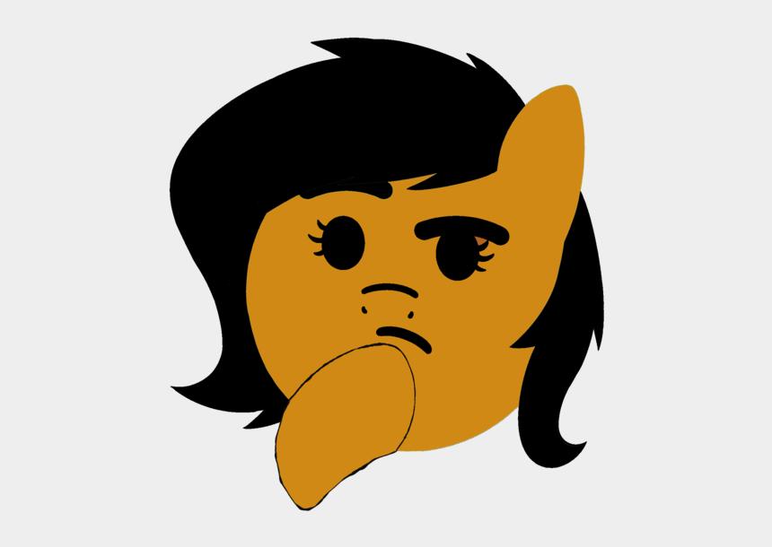 thinking face clip art, Cartoons - Pony Thinking Emoji
